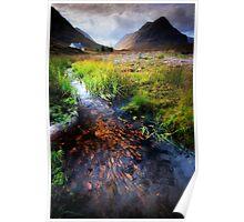 Lagangarbh stream, Glencoe, Argyll Poster