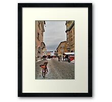Street for pedestrians Framed Print