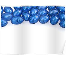 Blue Chocolate Eggs - Border Top Poster