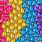 Coloured Chocolate Egg Collection - Top View by clearviewstock