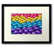 Coloured Chocolate Egg Collection Framed Print