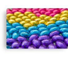 Coloured Chocolate Egg Collection Canvas Print