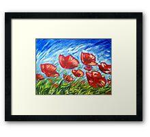 Poppy Summer Framed Print