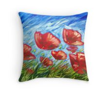 Poppy Summer Throw Pillow