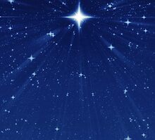 Zooming in Wishing Star - Vertical Deep Blue by clearviewstock
