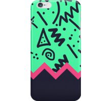 Neon Retro 80's Squiggly Pattern Zigzag iPhone Case/Skin