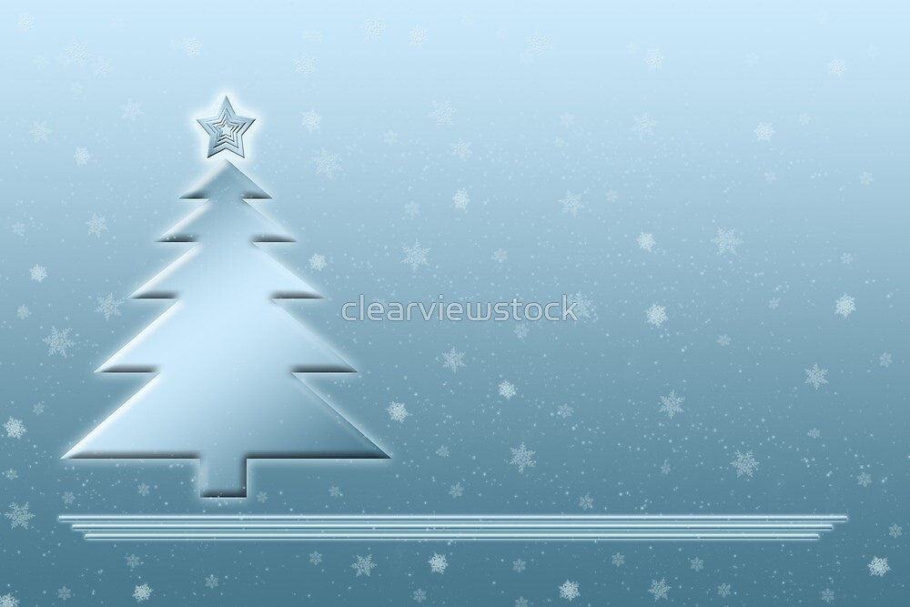 Ice Blue Christmas Scene by clearviewstock