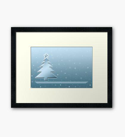 Ice Blue Christmas Scene Framed Print