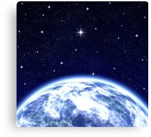 Earth & Space Canvas Print