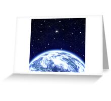 Earth & Space Greeting Card