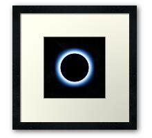 Blue Halo Eclipse Framed Print