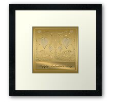 Happy Golden Valentine's Day Framed Print
