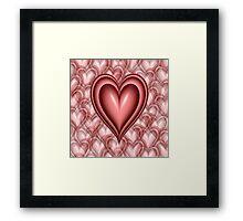 Pink Floating Hearts Framed Print