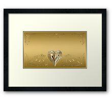 Delicate Golden Heart Framed Print