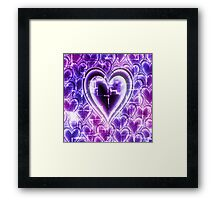Electro Hearts Framed Print