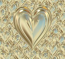 Golden Floating Hearts by clearviewstock