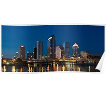 Tampa Skyline at Night Poster