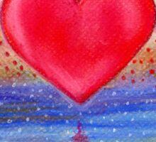 Heart Reflection Sticker