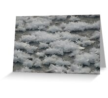Frost Flash Lake Greeting Card