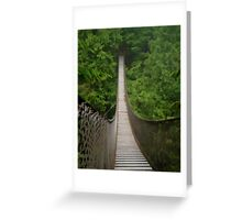 Lynn Canyon Suspension Bridge Simplified Greeting Card