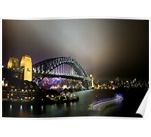 Sydney Harbour Bridge by Night Poster