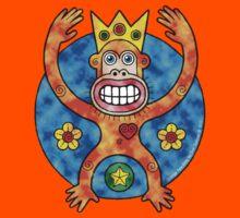 Orange Ape King (Clouds) Kids Tee