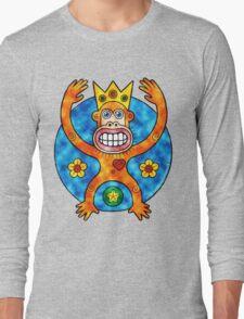 Orange Ape King (Clouds) Long Sleeve T-Shirt