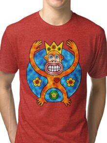 Orange Ape King (Clouds) Tri-blend T-Shirt