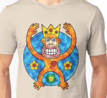 Orange Ape King (Clouds) Unisex T-Shirt