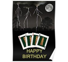 Four Aces Happy Birthday Poster