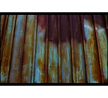 Rusted Houseguests Make Good Gates Photographic Print