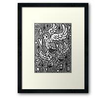 (b&w) Wings of Desire Framed Print