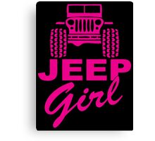 Jeep Girl Canvas Print