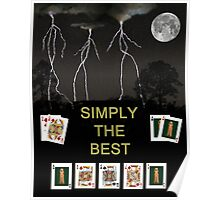 Simply The Best Poker Cards Poster