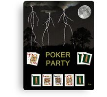 Poker Party, Poker Cards Canvas Print