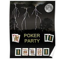 Poker Party, Poker Cards Poster
