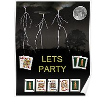 Lets Party Poker Cards Poster