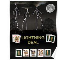 Lightning Deal, Poker Cards Poster