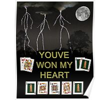 Youve Won My Heart, Poker Cards Poster