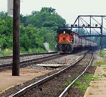 On track... by Gary  Oertel