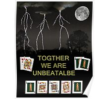 Together We Are Unbeatable, Poker Cards Poster