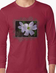 Oxalis Triangularis or Burgundy Shamrock Long Sleeve T-Shirt