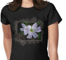Oxalis Triangularis or Burgundy Shamrock Womens Fitted T-Shirt