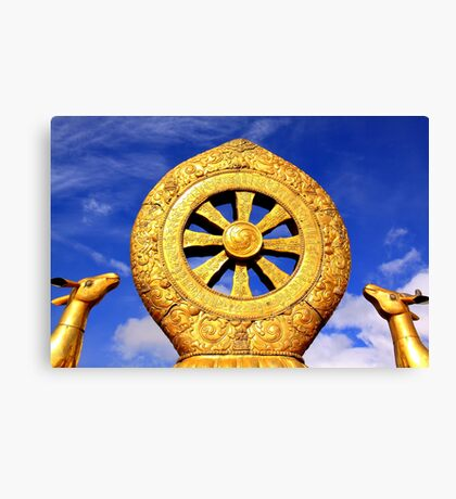 Dharma Wheel in Jokhang Temple Canvas Print