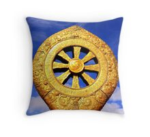 Dharma Wheel in Jokhang Temple Throw Pillow