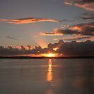 Sunset to Heaven, Cross and Rays by bazcelt