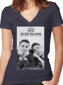 Go ZTA Women's Fitted V-Neck T-Shirt