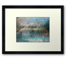 Whispering Wings of Water... and Things Framed Print