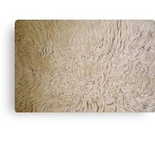 Fun Cream Shaggy Furry Sheepskin Wool Texture Background Canvas Print