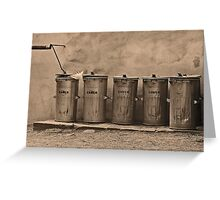 Waste container Greeting Card